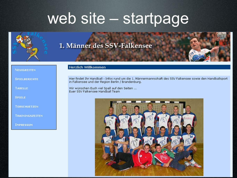web site – startpage