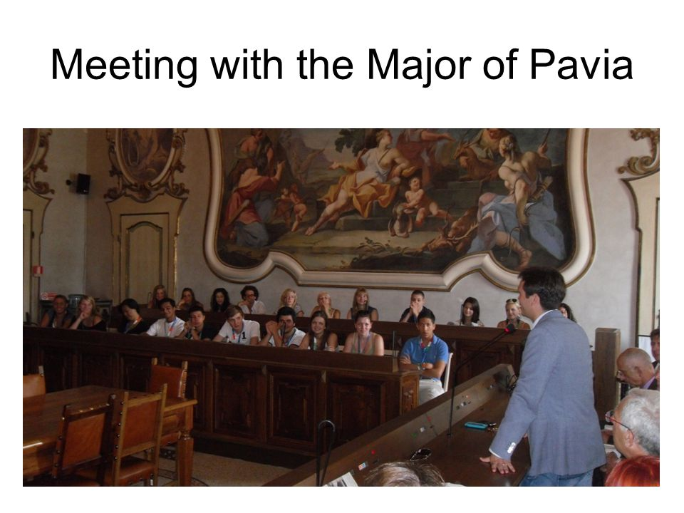 Meeting with the Major of Pavia