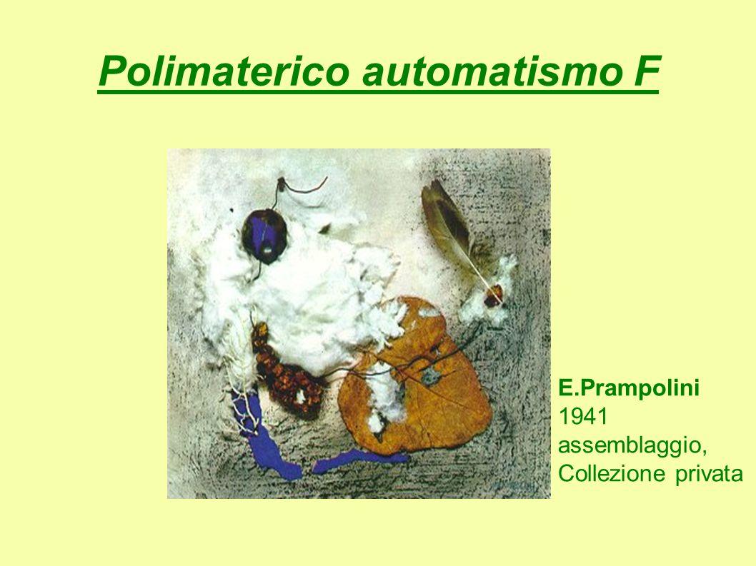 Polimaterico automatismo F E.Prampolini 1941 assemblaggio, Collezione privata