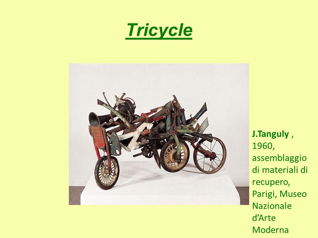Tricycle J.Tanguly, 1960, assemblaggio di materiali di recupero, Parigi, Museo Nazionale d'Arte Moderna