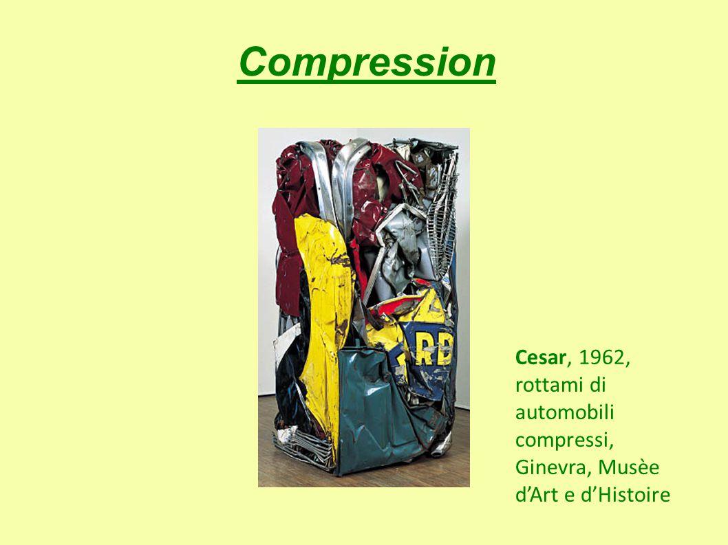 Compression Cesar, 1962, rottami di automobili compressi, Ginevra, Musèe d'Art e d'Histoire