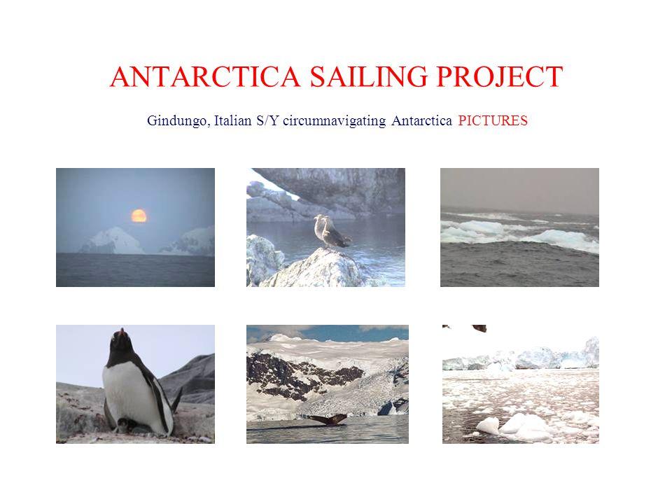 ANTARCTICA SAILING PROJECT Gindungo, Italian S/Y circumnavigating Antarctica PICTURES