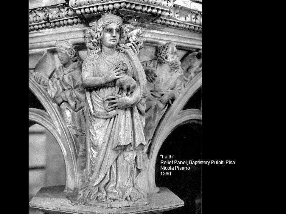 """Faith"" Relief Panel, Baptistery Pulpit, Pisa Nicola Pisano 1260"