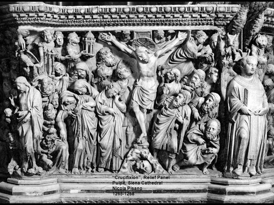 """Crucifixion"", Relief Panel Pulpit, Siena Cathedral Nicola Pisano 1265-1268"