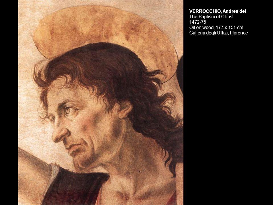 Verrocchio Head of an Angel Florence, Uffizi