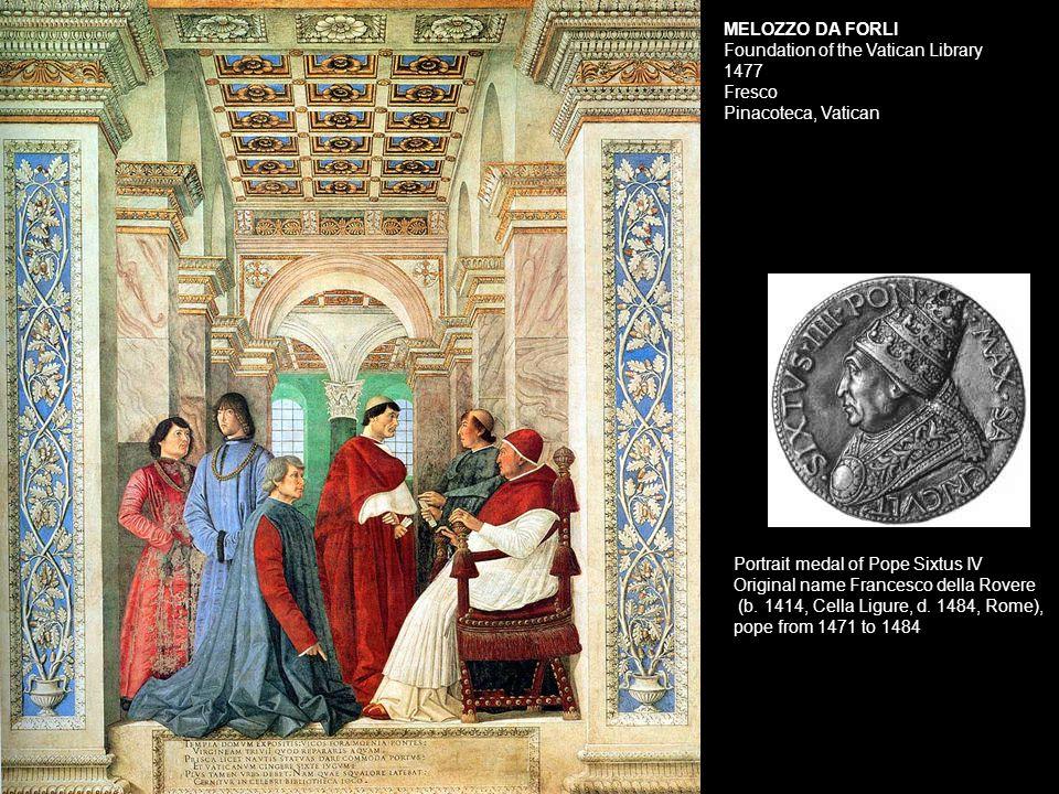 Portrait medal of Pope Sixtus IV Original name Francesco della Rovere (b.