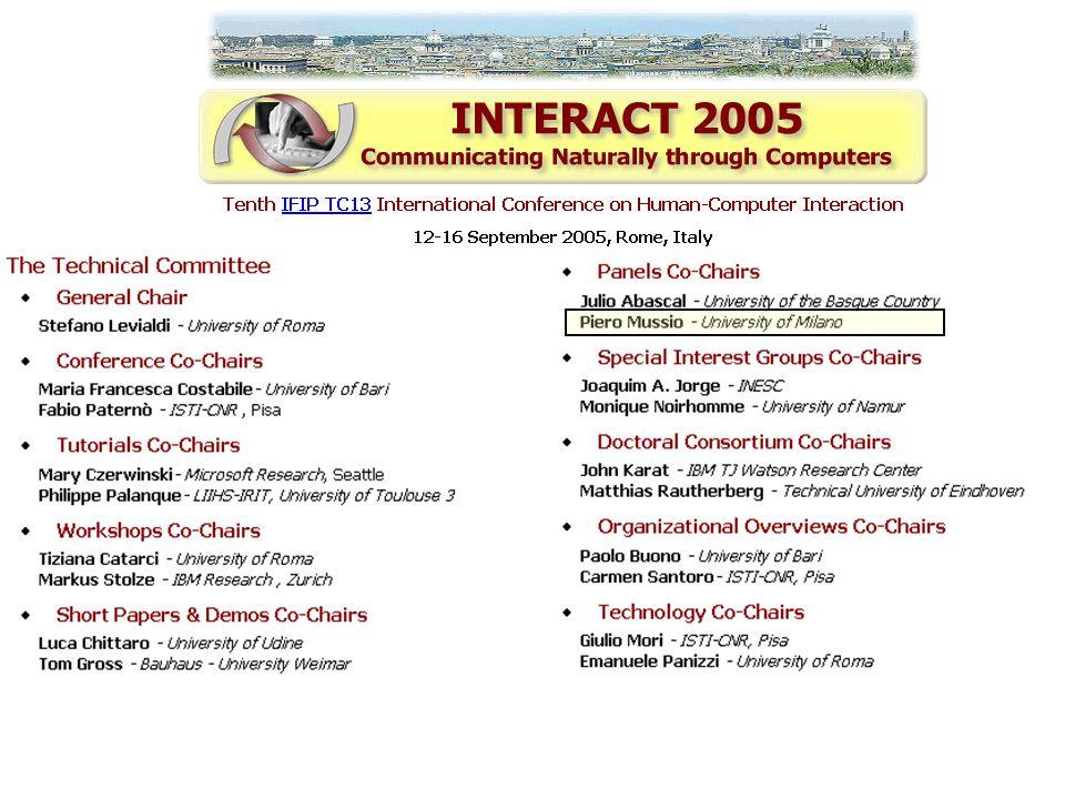 INTERACT 2005 Reception