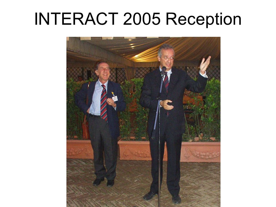 INTERACT 2005 Reception
