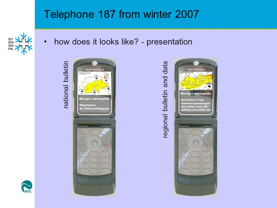 Telephone 187 from winter 2007 how does it looks like.