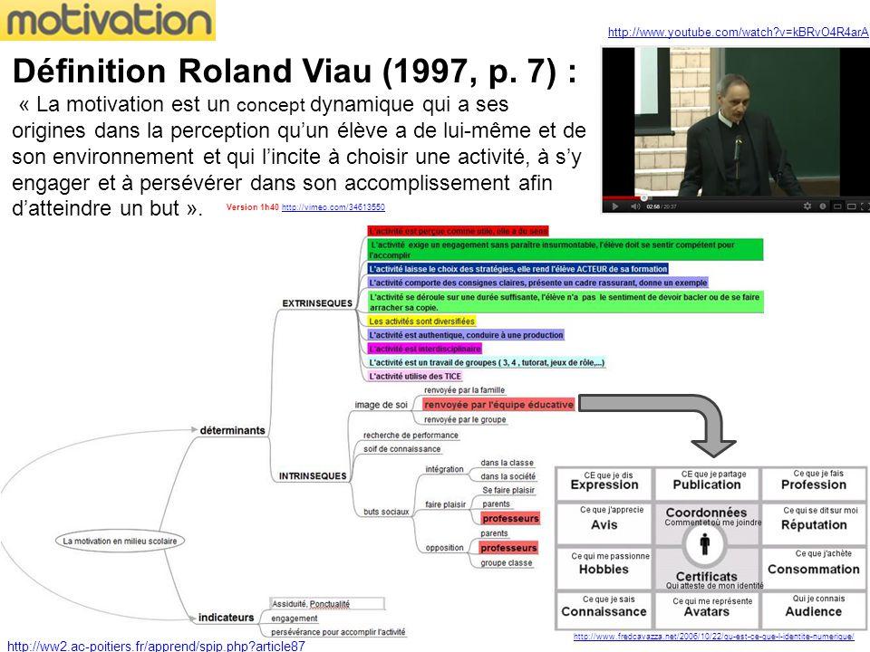 Définition Roland Viau (1997, p.