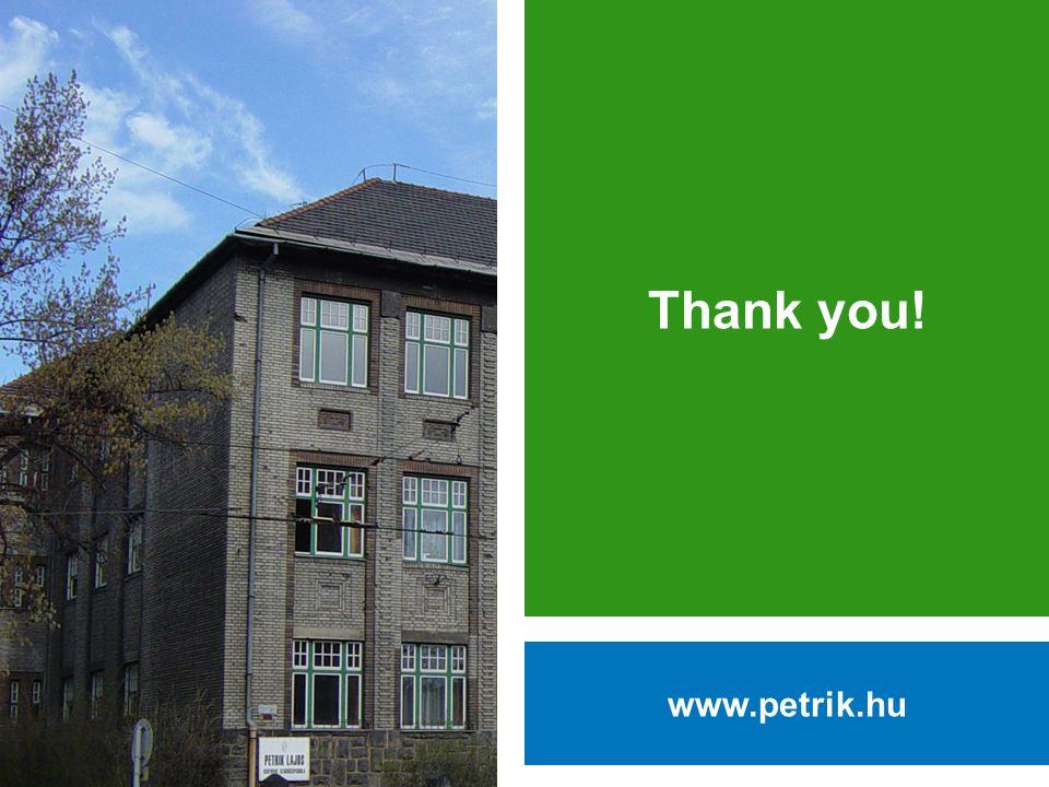 Thank you! www.petrik.hu