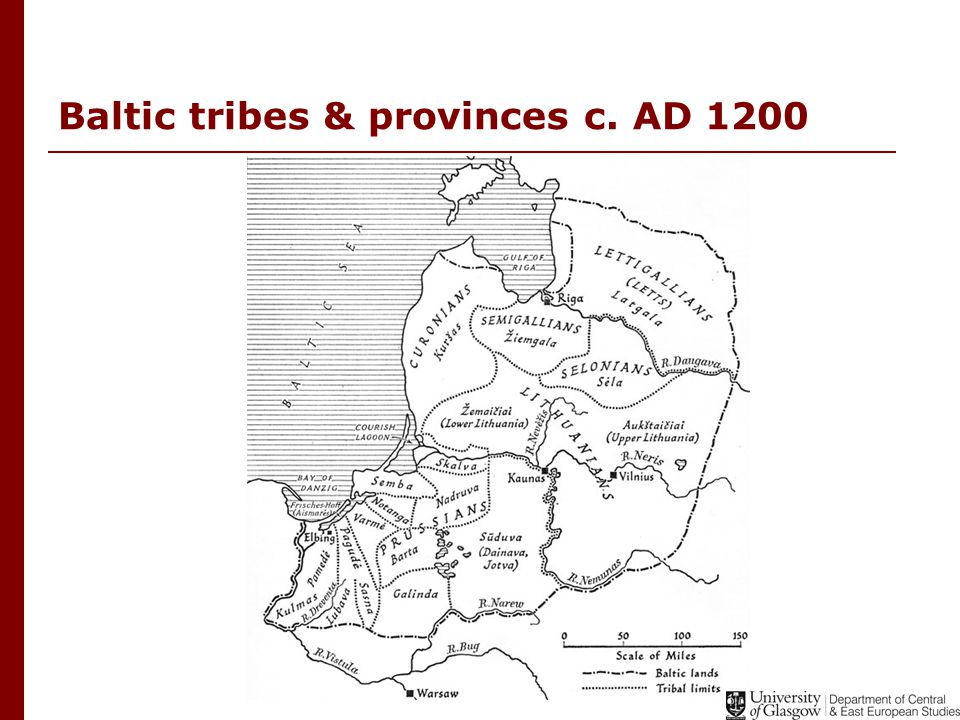 Baltic tribes & provinces c. AD 1200
