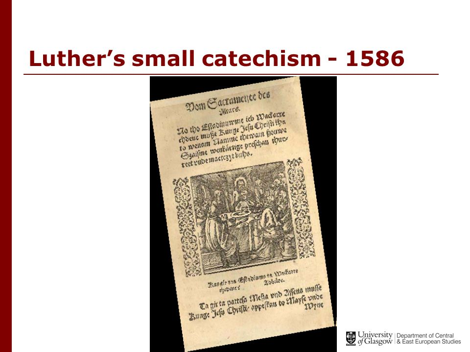 Luther's small catechism - 1586