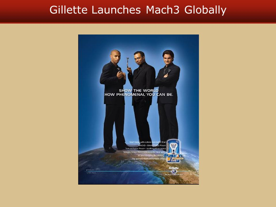 Gillette Launches Mach3 Globally