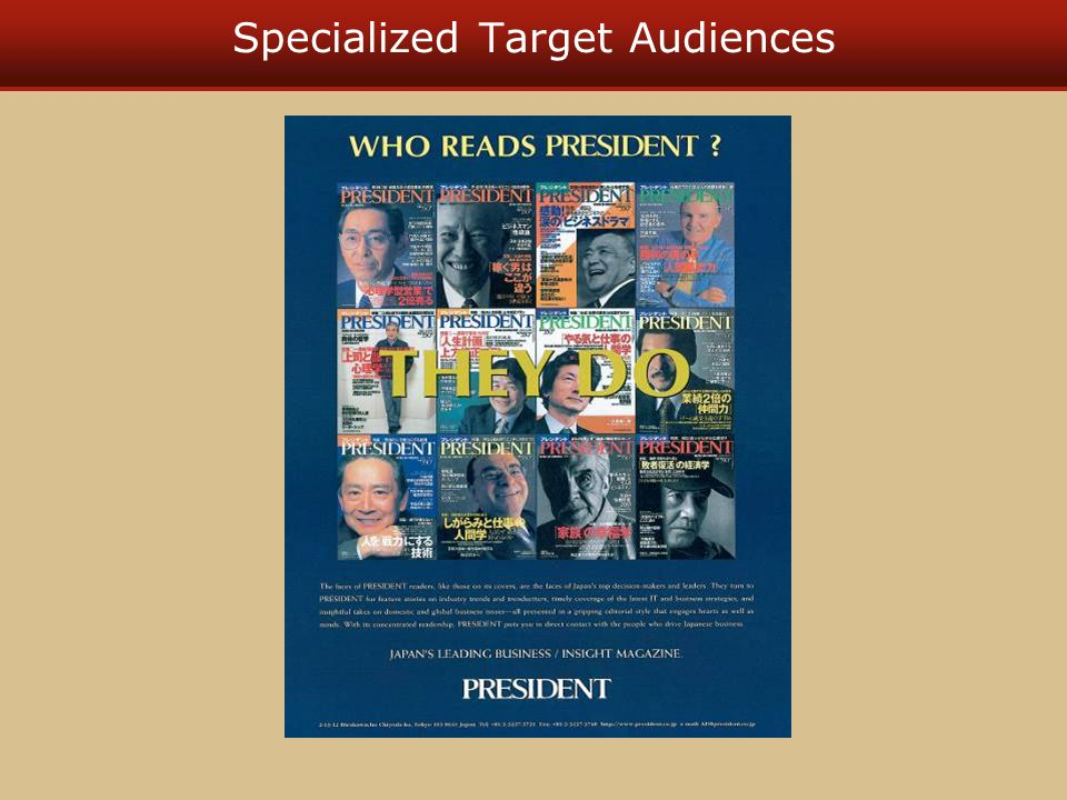 Specialized Target Audiences