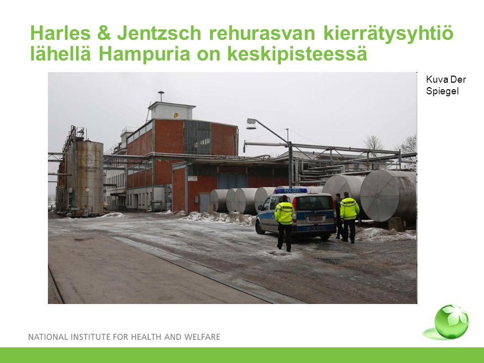 Harles & Jentzsch rehurasvan kierrätysyhtiö lähellä Hampuria on keskipisteessä Kuva Der Spiegel