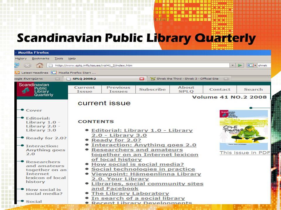 Scandinavian Public Library Quarterly