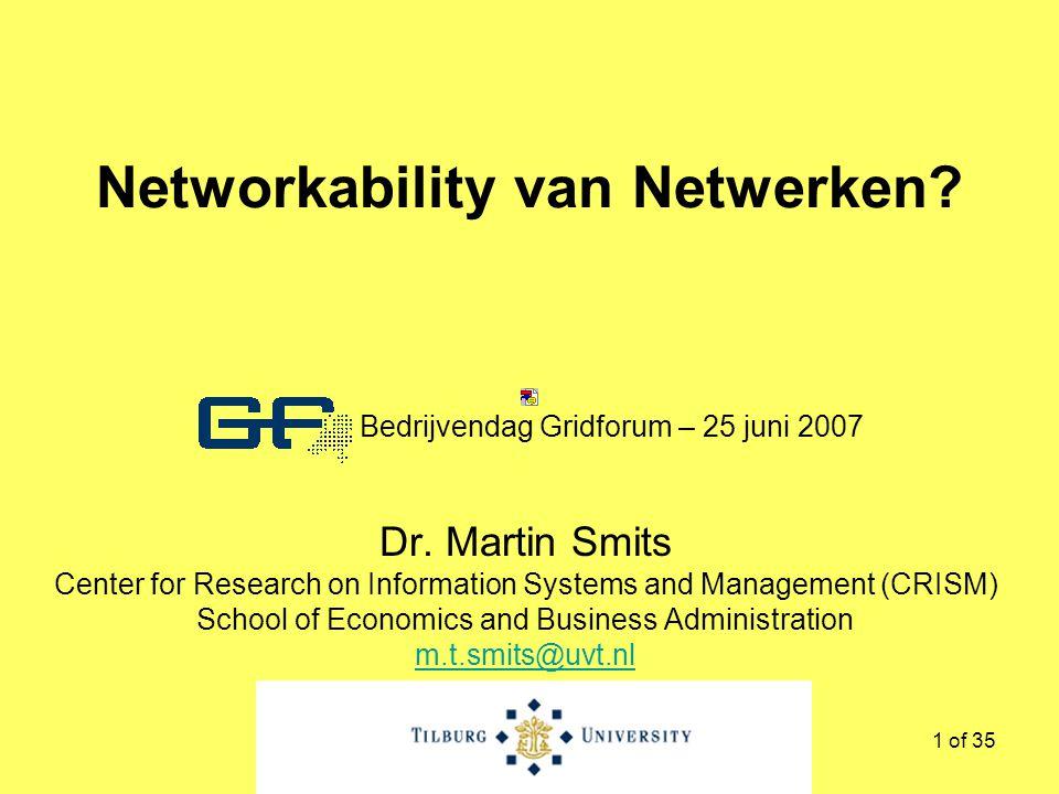 1 of 35 Networkability van Netwerken. Dr.