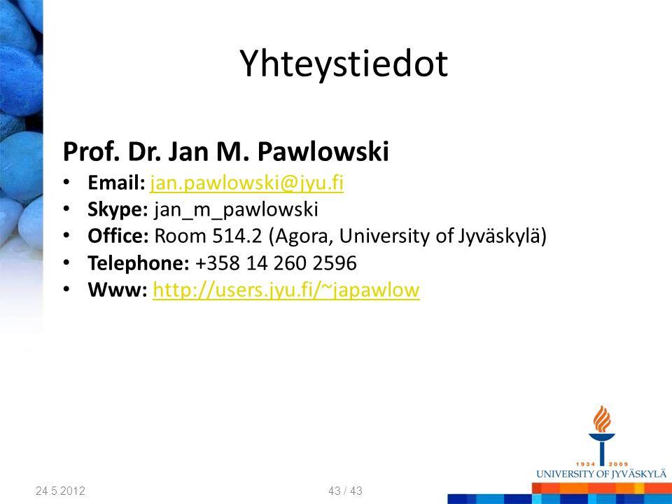 Yhteystiedot Prof.Dr. Jan M.