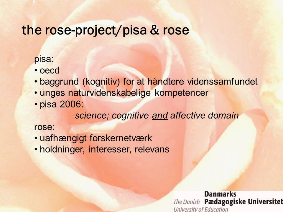 the rose-project/pisa & rose pisa: oecd baggrund (kognitiv) for at håndtere videnssamfundet unges naturvidenskabelige kompetencer pisa 2006: science;