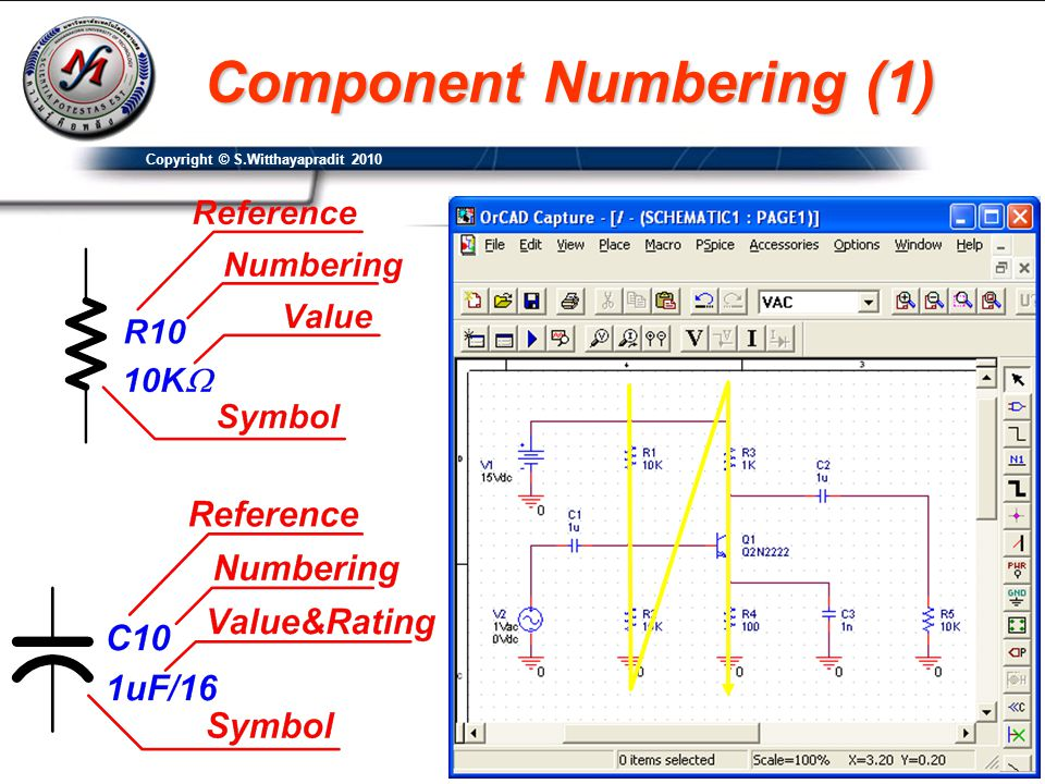 Component Numbering (1) Copyright © S.Witthayapradit 2010
