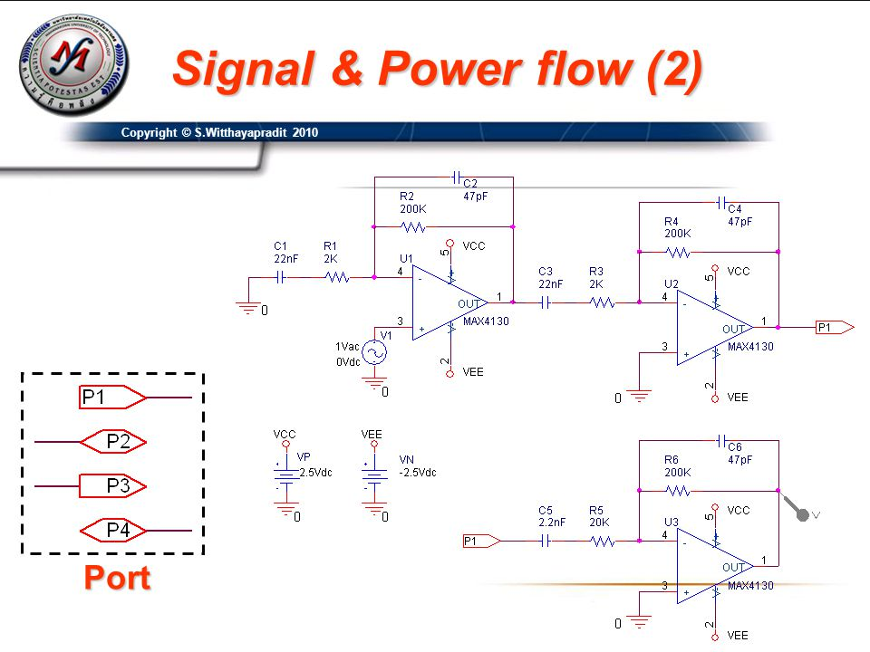 Port Signal & Power flow (2) Copyright © S.Witthayapradit 2010