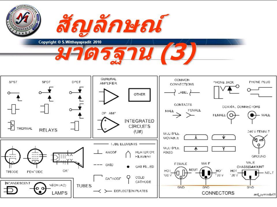 Pin Number Pin Name สัญลักษณ์ มาตรฐาน (4) Copyright © S.Witthayapradit 2010