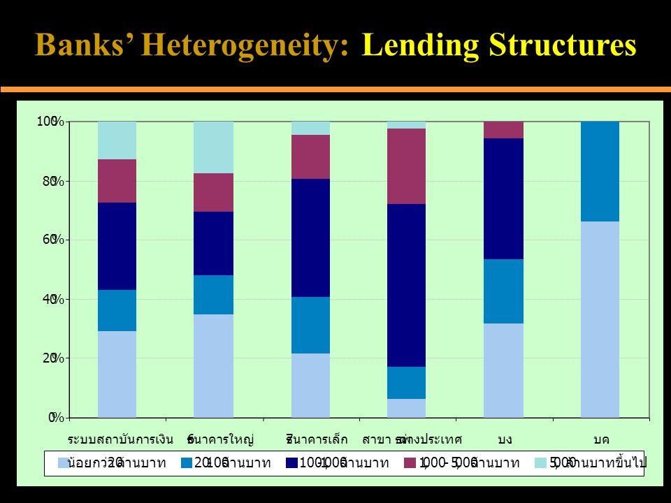 Banks' Heterogeneity: Lending Structures