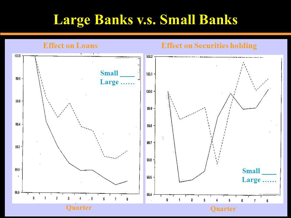 Large Banks v.s.