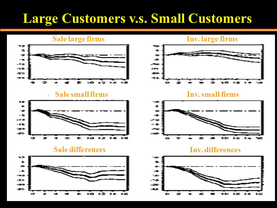 Large Customers v.s. Small Customers Sale differences Sale small firms Sale large firmsInv.