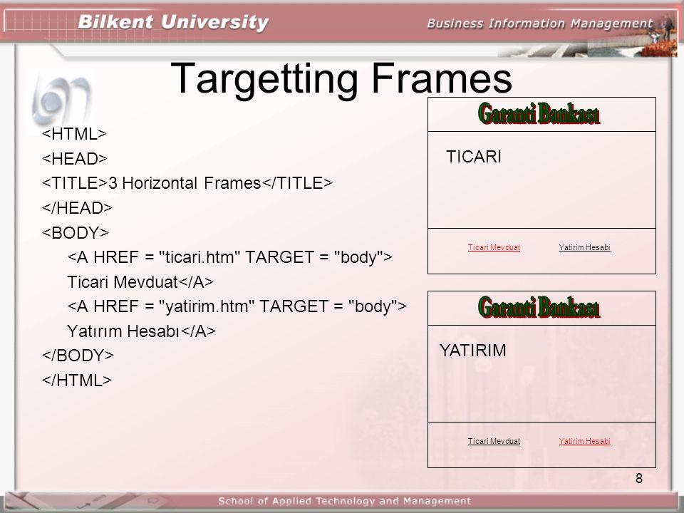 8 Targetting Frames 3 Horizontal Frames Ticari Mevduat Yatırım Hesabı Ticari MevduatYatirim Hesabi TICARI Ticari MevduatYatirim Hesabi YATIRIM