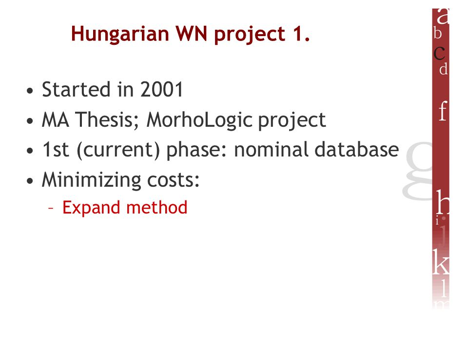 Hungarian WN project 1.