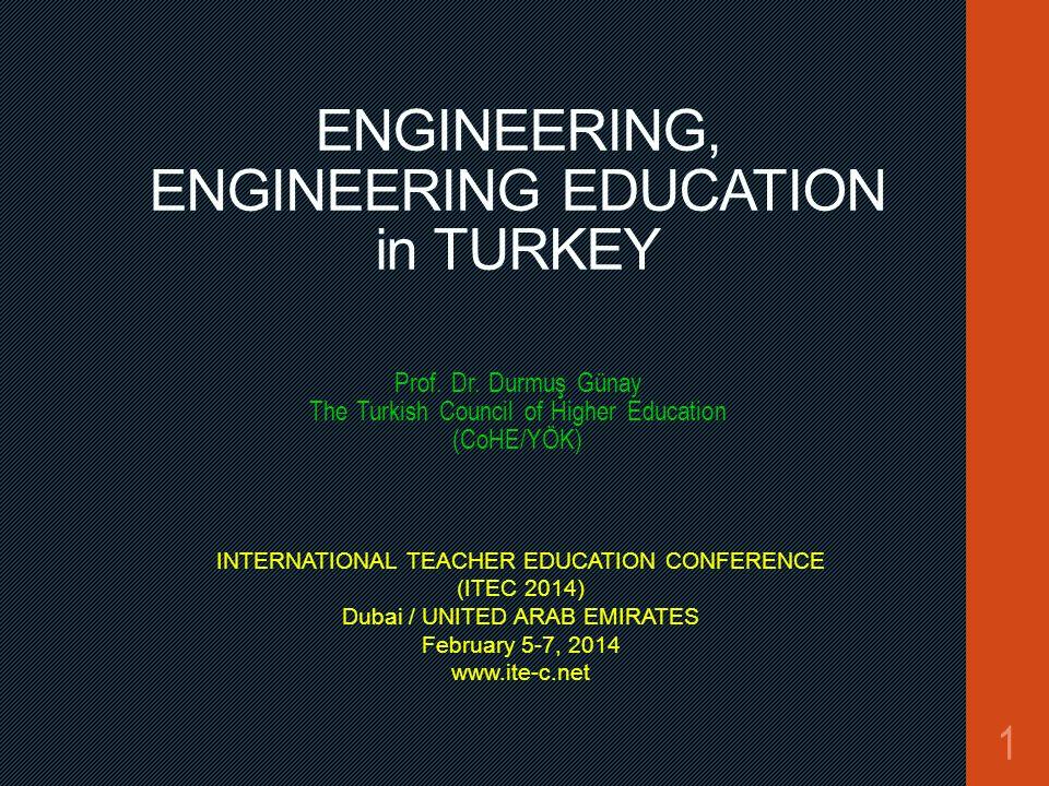 ENGINEERING, ENGINEERING EDUCATION in TURKEY Prof.