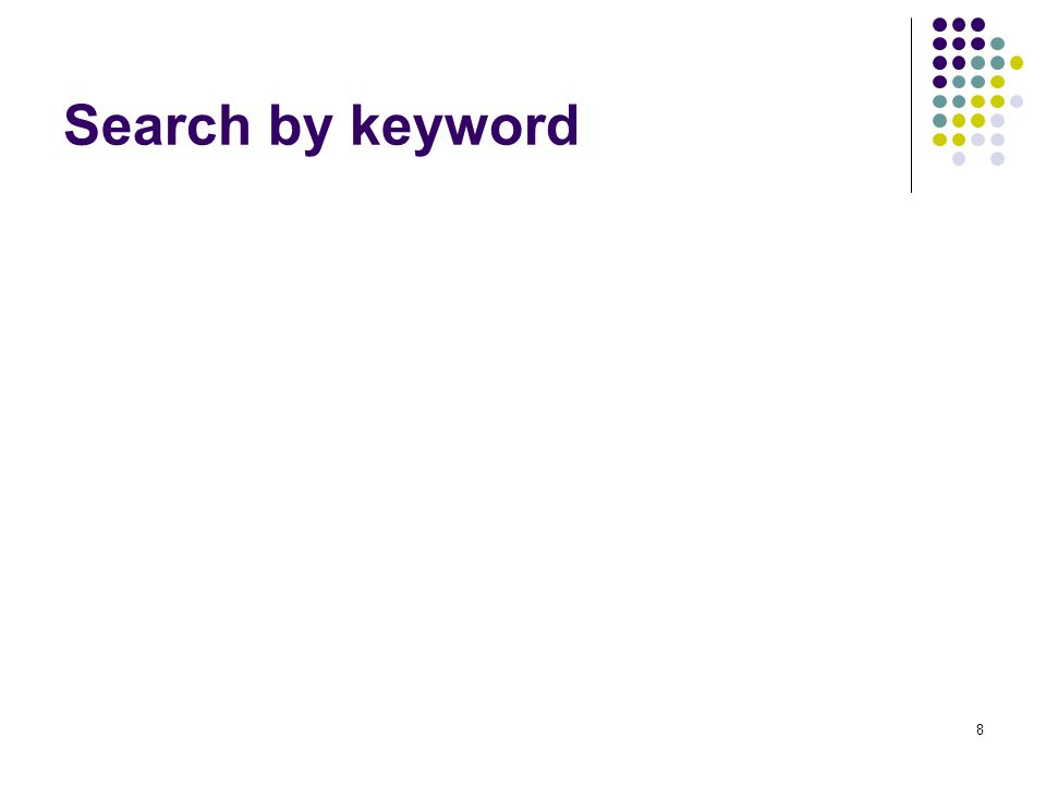 Search by keyword 8