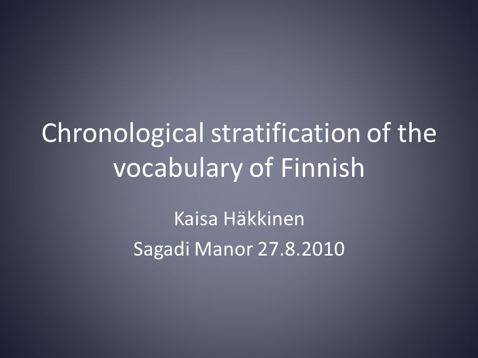 Some new trends of word formation of Standard Finnish • Abbreviations (luonnonmukainen 'with nature's requirements'  luomu) • Hybrids (kurppa + viklo  kurppelo) • Language-internal loans (slang, professional language, terminology of special lines of work)