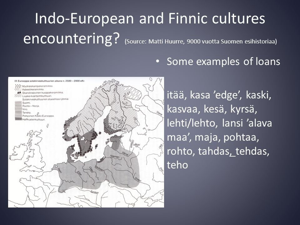 Indo-European and Finnic cultures encountering.