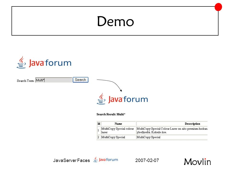 2007-02-07JavaServer Faces Demo