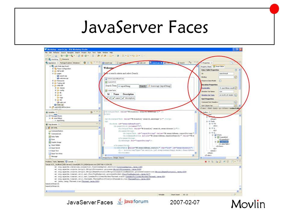 2007-02-07JavaServer Faces Prestanda