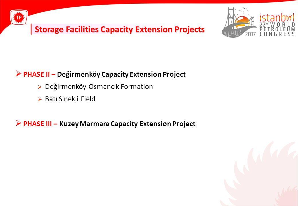 Storage Facilities Capacity Extension Projects  PHASE II – Değirmenköy Capacity Extension Project  Değirmenköy-Osmancık Formation  Batı Sinekli Fie