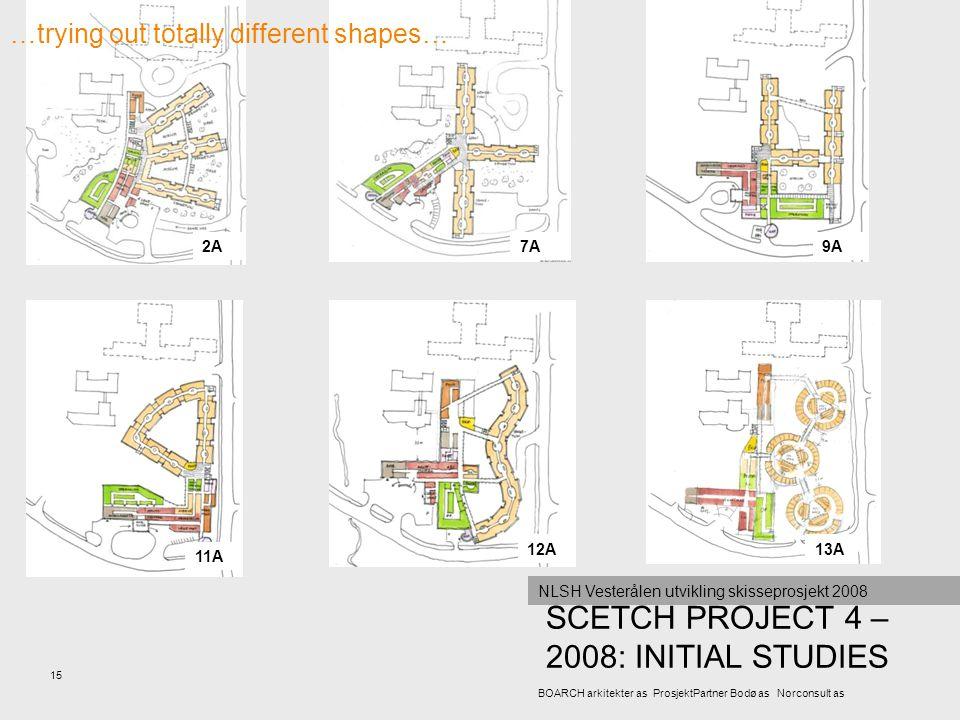 SCETCH PROJECT 4 – 2008: INITIAL STUDIES 15 BOARCH arkitekter as ProsjektPartner Bodø as Norconsult as NLSH Vesterålen utvikling skisseprosjekt 2008 2