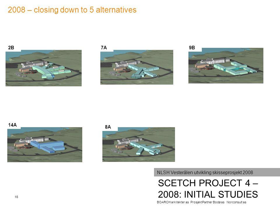 SCETCH PROJECT 4 – 2008: INITIAL STUDIES 16 BOARCH arkitekter as ProsjektPartner Bodø as Norconsult as NLSH Vesterålen utvikling skisseprosjekt 2008 2