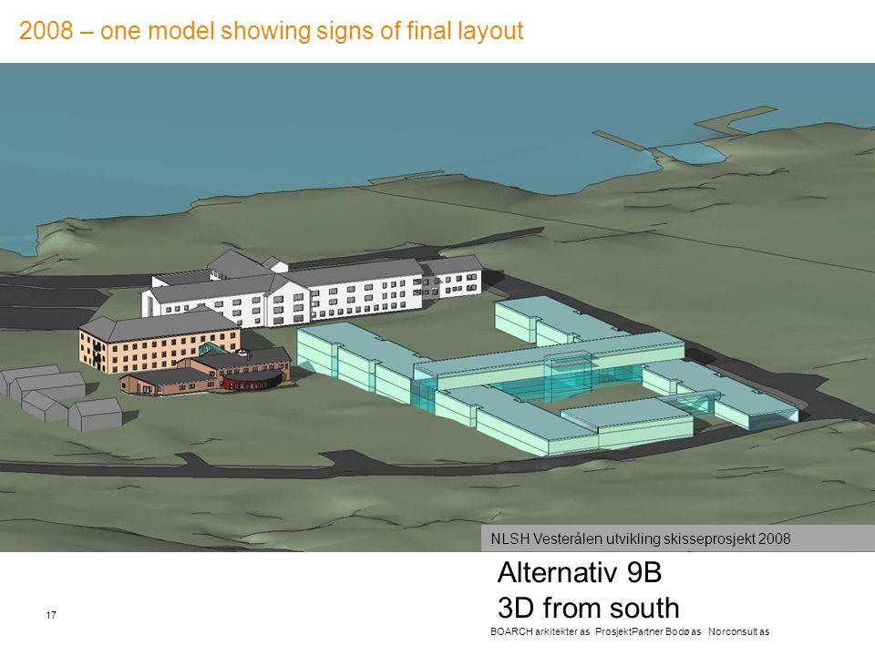 Alternativ 9B 3D from south 17 BOARCH arkitekter as ProsjektPartner Bodø as Norconsult as NLSH Vesterålen utvikling skisseprosjekt 2008 2008 – one mod