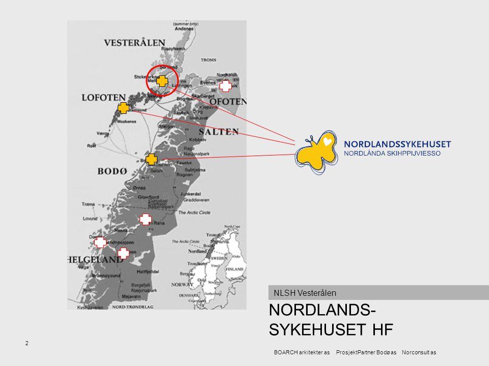 2 BOARCH arkitekter as ProsjektPartner Bodø as Norconsult as NORDLANDS- SYKEHUSET HF NLSH Vesterålen