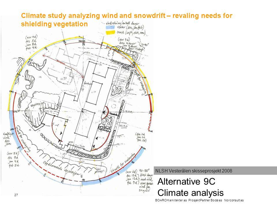 Alternative 9C Climate analysis BOARCH arkitekter as ProsjektPartner Bodø as Norconsult as NLSH Vesterålen skisseprosjekt 2008 Climate study analyzing