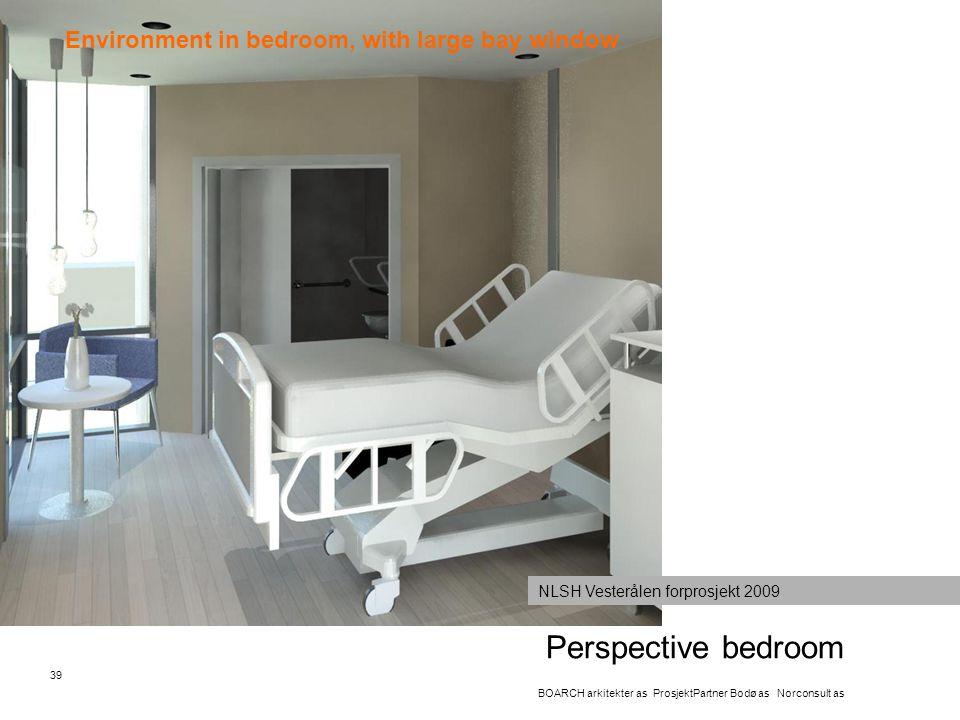 Perspective bedroom 39 BOARCH arkitekter as ProsjektPartner Bodø as Norconsult as NLSH Vesterålen forprosjekt 2009 Environment in bedroom, with large