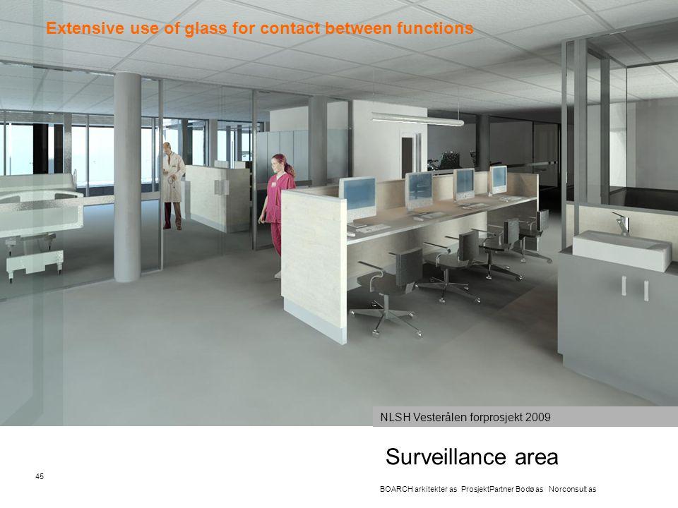 Surveillance area 45 BOARCH arkitekter as ProsjektPartner Bodø as Norconsult as NLSH Vesterålen forprosjekt 2009 Extensive use of glass for contact be