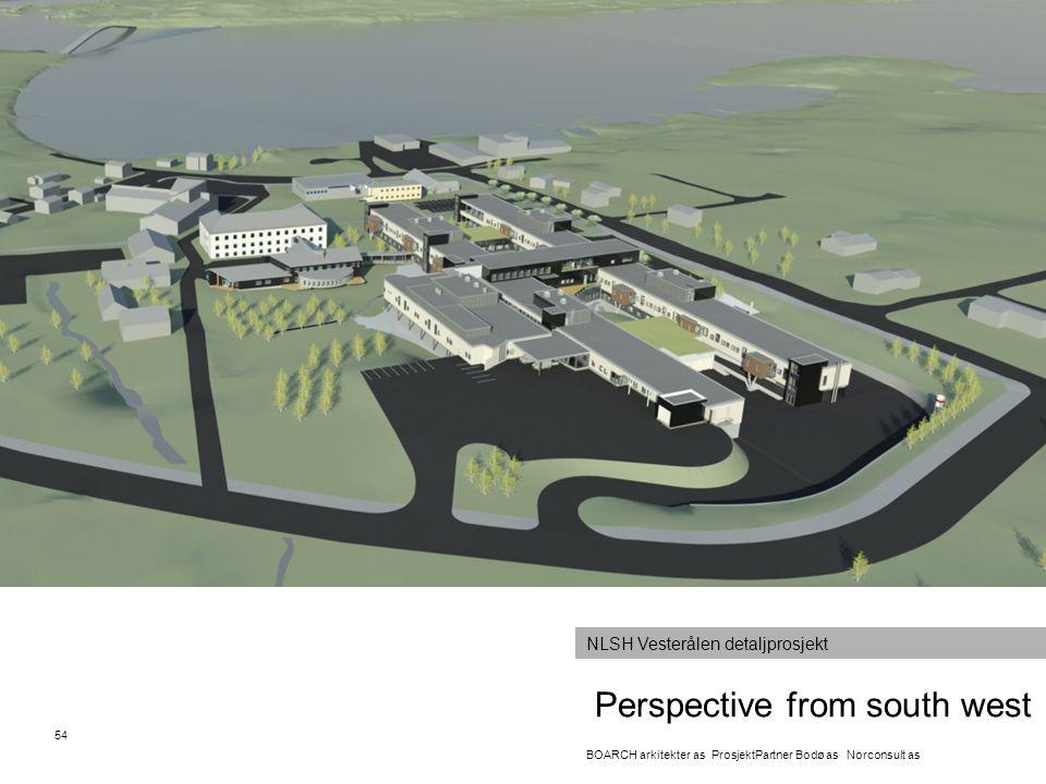 Perspective from south west 54 BOARCH arkitekter as ProsjektPartner Bodø as Norconsult as NLSH Vesterålen detaljprosjekt