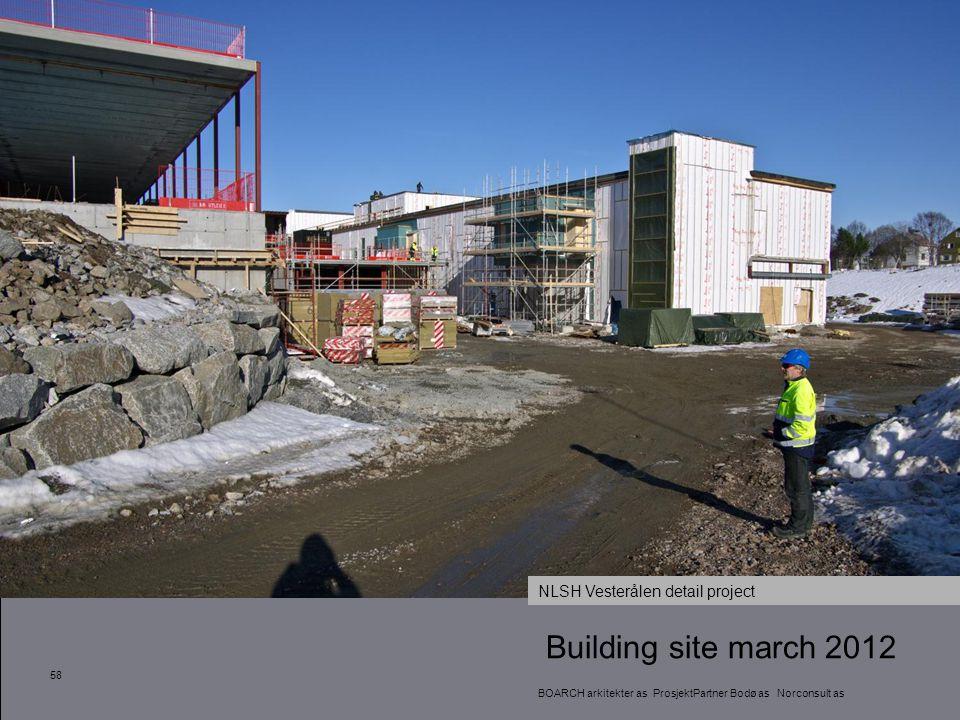 Building site march 2012 58 BOARCH arkitekter as ProsjektPartner Bodø as Norconsult as NLSH Vesterålen detail project