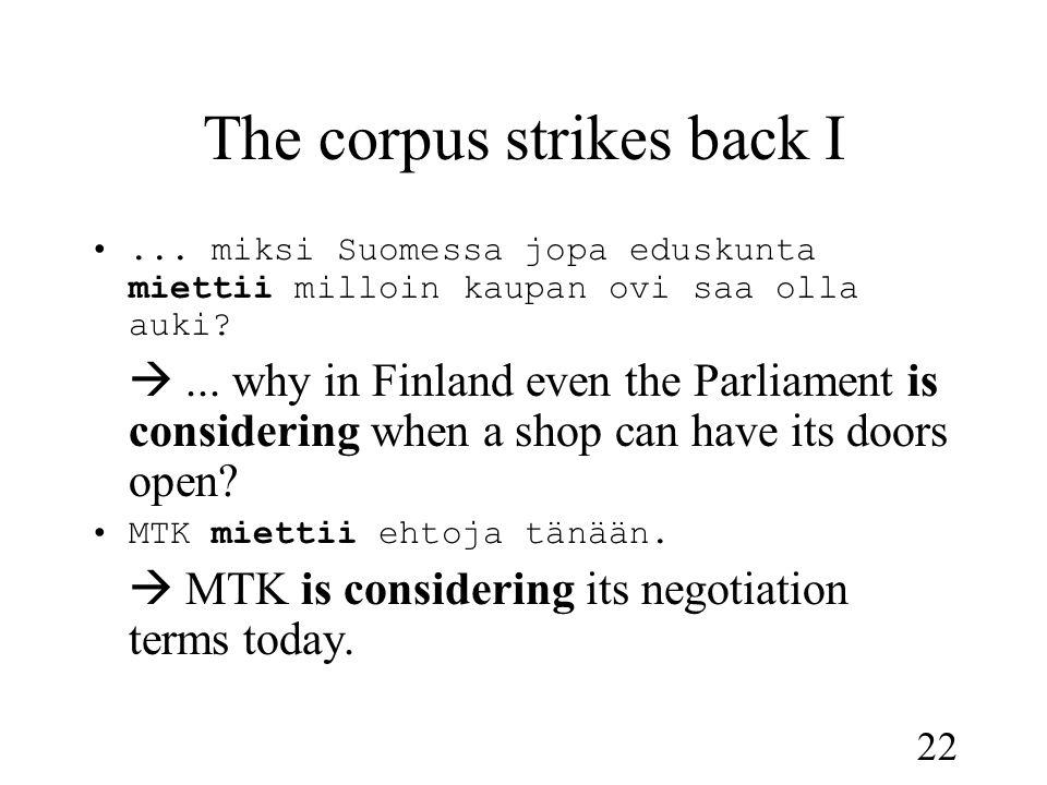 22 The corpus strikes back I •...