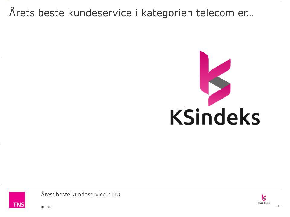 3.14 X AXIS 6.65 BASE MARGIN 5.95 TOP MARGIN 4.52 CHART TOP 11.90 LEFT MARGIN 11.90 RIGHT MARGIN DO NOT ALTER SLIDE MASTERS – THIS IS A TNS APPROVED TEMPLATE Årest beste kundeservice 2013 © TNS Årets beste kundeservice i kategorien telecom er… 11